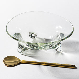 Recycled glass studio Teteto three-legged small bowl (clear)