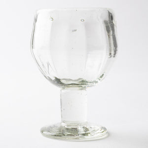 Blown glass studio Issei short leg glass