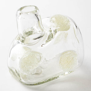 Blown glass studio Issei bubble polka dot deformed vase