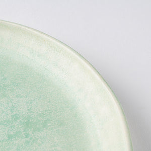 Writers about spring plates L thin-blossomed, pale blue - adult pottery