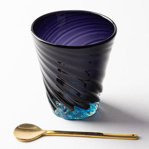 Verre Ryukyu Glass Studio32 Blue Cave Bottom Hole Mall Small-K00349-Ryukyu Glass Studio verre32