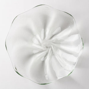 Ryukyu Glass Studio Glass32 Plaque Vortex (Transparent) -K00347- Ryukyu Glass Studio Glass32