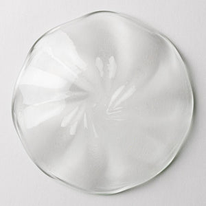 Ryukyu glass studio glass32 vortex small plate (clear) -K00348- Ryukyu glass studio glass32