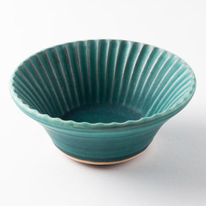 Shoyo Kiln Ao Shinogi Stacking Bowl -K00399- Tamba Ware Shoyo Four