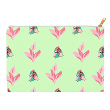"Load image into Gallery viewer, Mels Holiday ""Pink & Green"" Accessory Pouches"