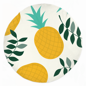 "Mels Holiday ""Pinapple"" Rounded Beach Towels"