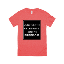 "Load image into Gallery viewer, Mels Holiday ""JUNETEENTH BLOCK"" T-Shirts"