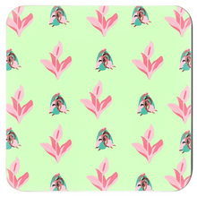 "Load image into Gallery viewer, Mels Holiday ""Pink & Green"" Coasters"