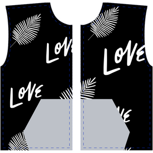 "Mels Holiday ""Love"" All-Over Print Zip-Up Hoodies"