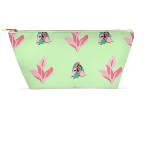 "Mels Holiday ""Pink & Green"" Accessory Pouches"