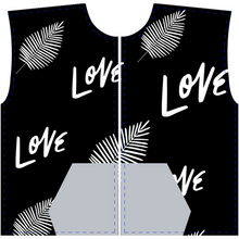 "Load image into Gallery viewer, Mels Holiday ""Love"" All-Over Print Zip-Up Hoodies"