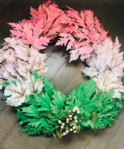 "18"" Fun Fall Leaves Wreaths by Mels Holiday (Local Delivery Only)"