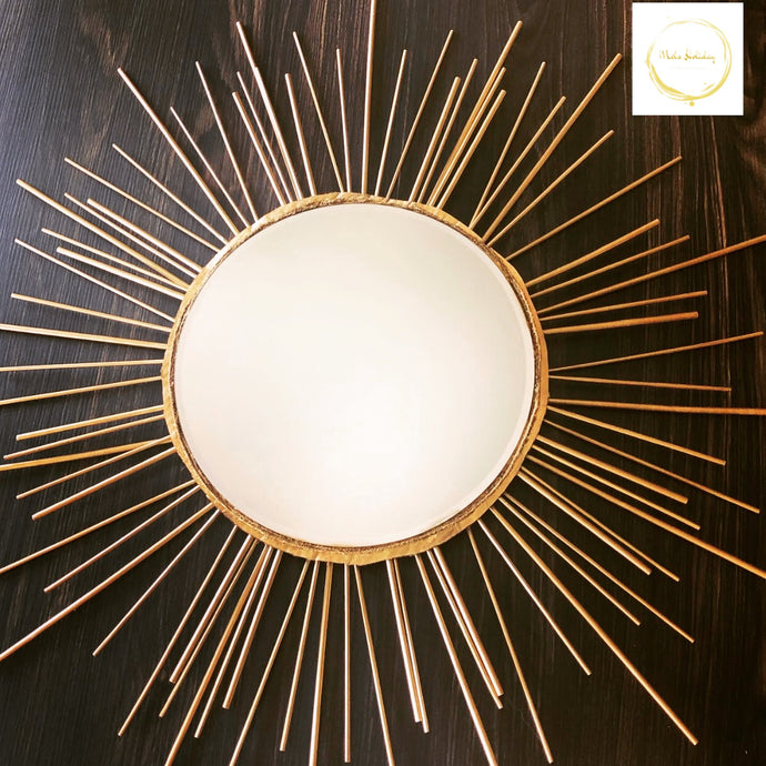Sunburst Decorative Mirror (Gold)