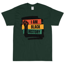 Load image into Gallery viewer, I AM BLACK HISTORY Short Sleeve T-Shirt By Mels Holiday