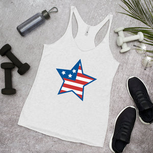 "Mels Holiday ""July Star"" Women's Racerback Tank"