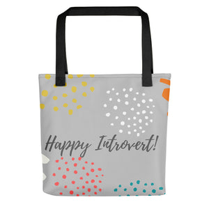 "Mels Holiday ""Happy Introvert"" Tote bag (Gray)"