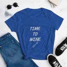 "Load image into Gallery viewer, Mels Holiday ""Wine"" Women's short sleeve t-shirt"