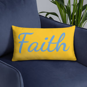 "Mels Holiday ""Faith"" All-Over Print Basic Pillow"
