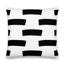 "Load image into Gallery viewer, Mels Holiday ""Thick Lines"" Premium Pillow"
