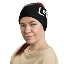 "Load image into Gallery viewer, Mels Holiday ""Love"" Elastice Headband/Face Cover"