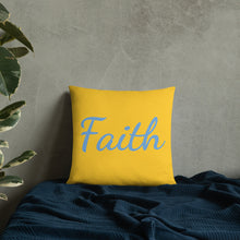 "Load image into Gallery viewer, Mels Holiday ""Faith"" All-Over Print Basic Pillow"