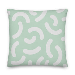 "Mels Holiday ""Fun Mint"" Premium Pillow"