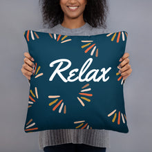 "Load image into Gallery viewer, Mels Holiday ""Relax"" Basic Pillow"