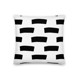 "Mels Holiday ""Thick Lines"" Premium Pillow"