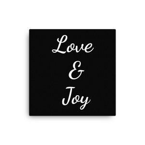 "Mels Holiday ""Love & Joy"" Canvas"