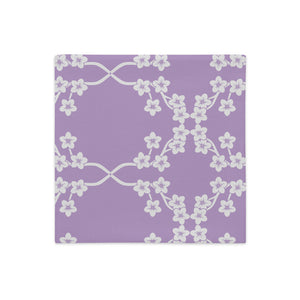 "Mels Holiday ""Purple Blossom"" Premium Pillow Case"