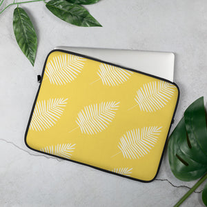 "Mels Holiday ""Yellow Leaf"" Laptop Sleeve"