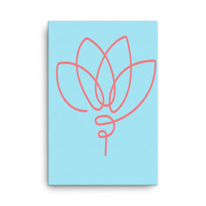 "Mels Holiday ""Pink Flower"" Canvas"