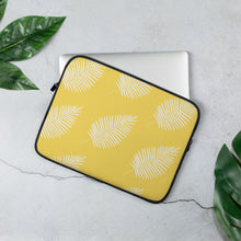 "Load image into Gallery viewer, Mels Holiday ""Yellow Leaf"" Laptop Sleeve"