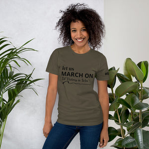 "Mels Holiday ""March On"" Short-Sleeve Unisex T-Shirt"