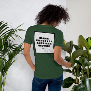 Black History/American History Short-Sleeve Unisex T-Shirt by Mels Holiday