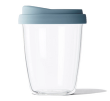 Load image into Gallery viewer, Blue Stone SoL Glass 8oz Reusable Cup