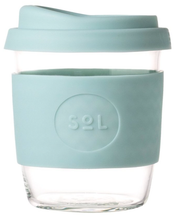 Load image into Gallery viewer, Cyan SoL Glass 8oz Reusable Cup