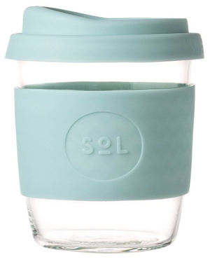 Cyan SoL Glass 8oz Reusable Cup