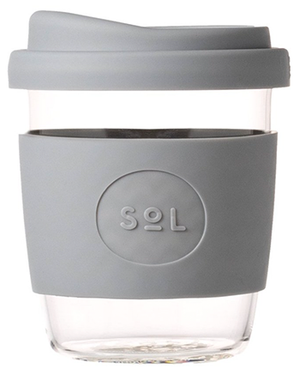 Grey SoL Glass 8oz Reusable Cup