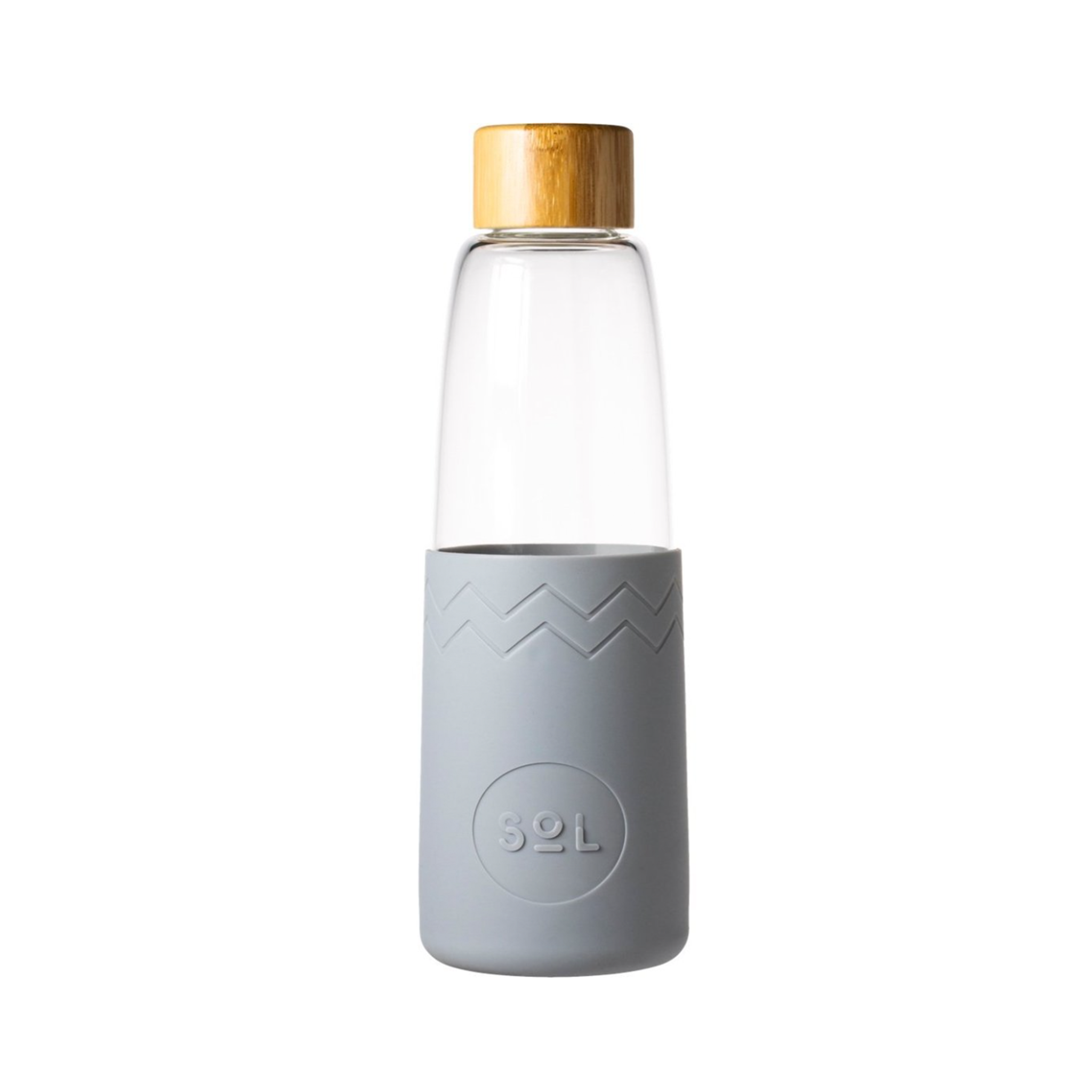 Grey SoL Glass Water Bottle