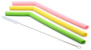 Jumbo Silicone 3 Light Straw Set