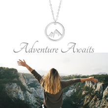 Load image into Gallery viewer, Circle Mountain Necklace - A Sterling Silver Adventure Necklace - Living Your Life Without Limits Shop