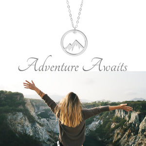 Circle Mountain Necklace - A Sterling Silver Adventure Necklace - Living Your Life Without Limits Shop