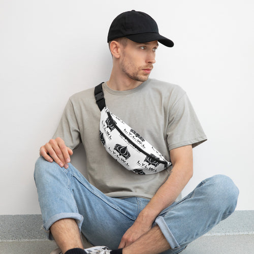 L.Y.W.L White Fanny Pack - Living Your Life Without Limits Shop
