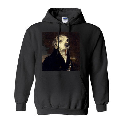 Paw&Bone Black / Small (S) Pawtrait™ Custom The Count Hoodie Custom Portrait - Personalized Gift