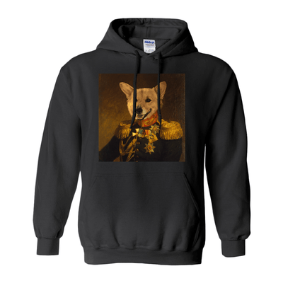 Paw&Bone Black / Small (S) Pawtrait™ Custom The Veteran Hoodie Custom Portrait - Personalized Gift