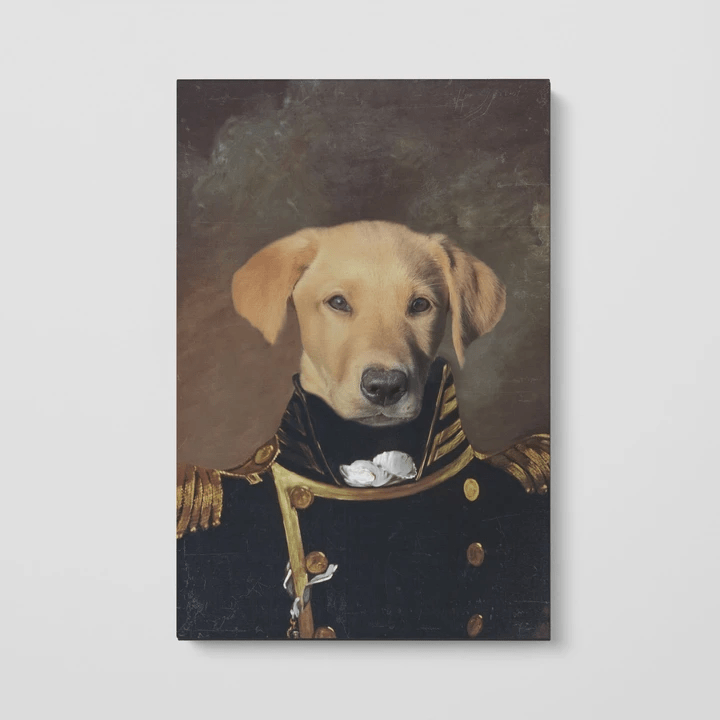 Paw&Bone Pawtrait™ Custom The Admiral Canvas Custom Portrait - Personalized Gift