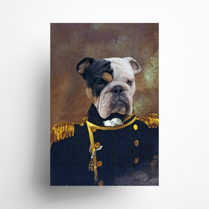 Paw&Bone Pawtrait™ Custom The Admiral Poster Custom Portrait - Personalized Gift
