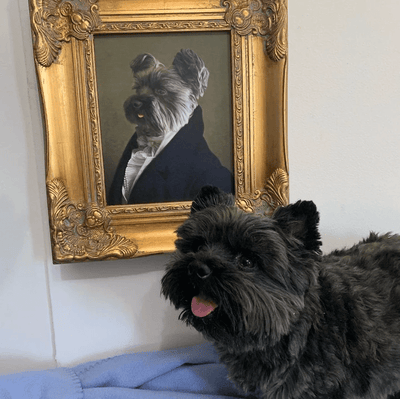 Paw&Bone Pawtrait™ Custom The Ambassador Canvas Custom Portrait - Personalized Gift