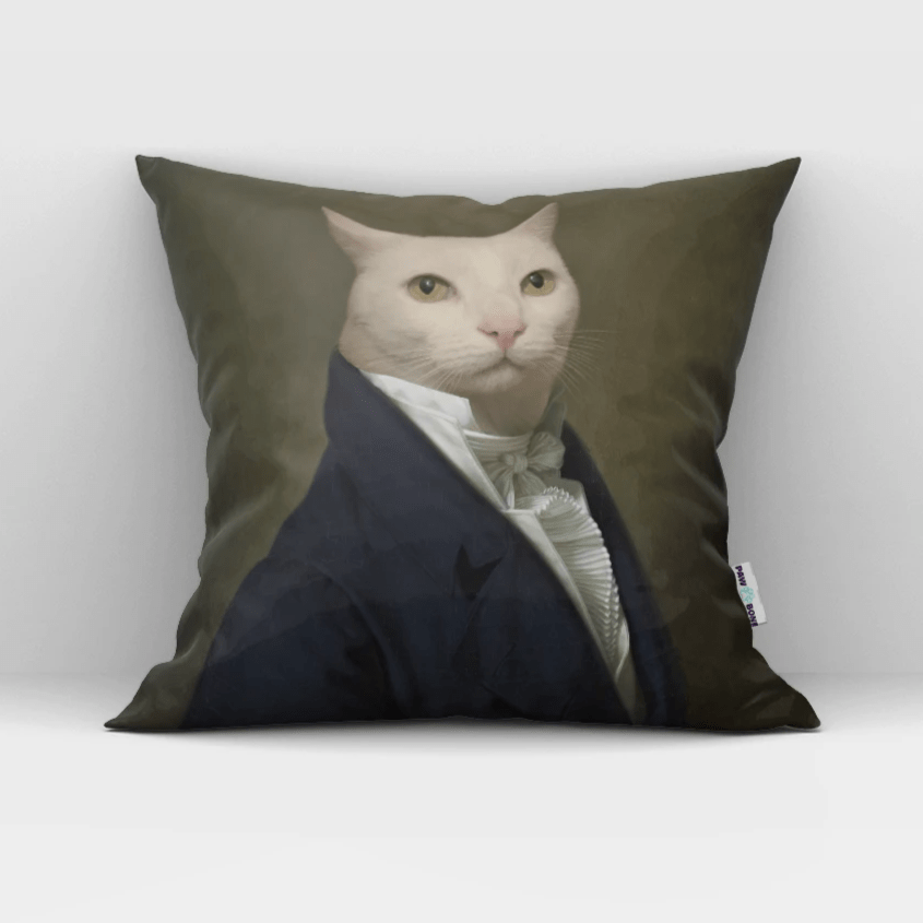 Paw&Bone Pawtrait™ Custom The Ambassador Couch Pillow Custom Portrait - Personalized Gift